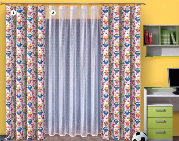 Tkanina dekoracyjna-sowy