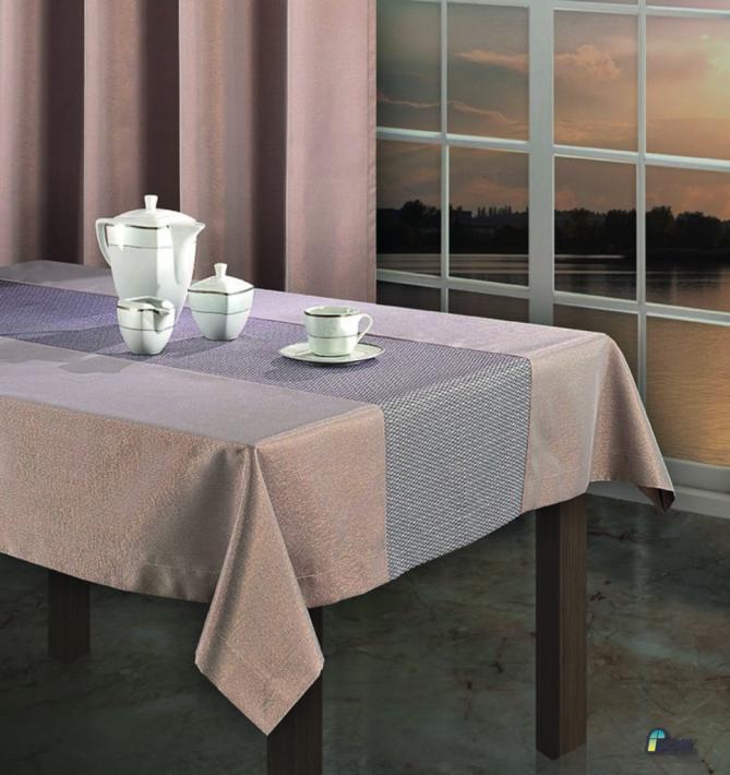 Tkanina dekoracyjna z miedzianą przędzą 3908D4 3909D3