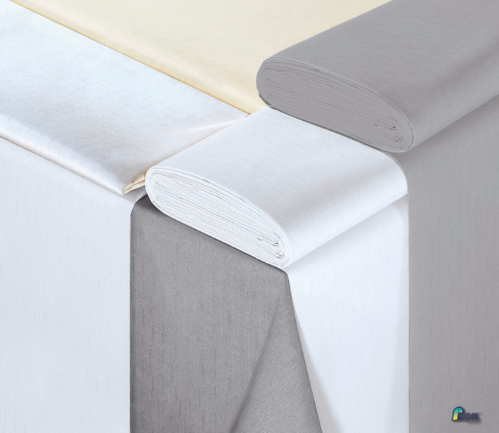 OBRUS PLAMOODPORNY SZARY 120 X 160 z tkaniny WISAN