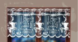 Zazdrostka żakardowa w metrażu COFFEE WISAN 60cm