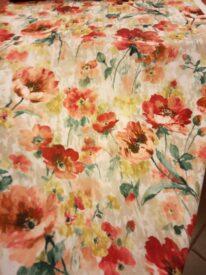 Tkanina zasłonowa w czerwone Maki 2121