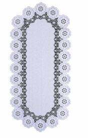 Bieżnik Nikifor żakardowy 60 x 120 owal biały